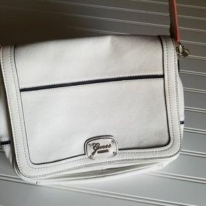Guess Messenger Crossbody Bag Off White